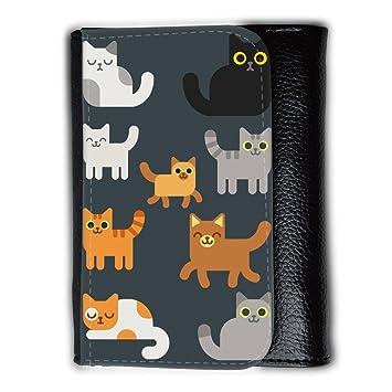 Cartera para hombre // Q05010606 Gatos dibujos Arsénico // Medium Size Wallet: Amazon.es: Electrónica