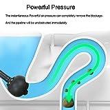 MOTYYA Toilet Plunger, Powerful High Pressure