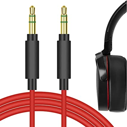 Black 3.5mm WH-1000XM3 Aux Cord Cable Compatible with Sony WH-1000XM2 MDR-1000x WH-CH700NMDR-100ABN MDR-XB950BT and MDR 1A Headphones 5ft Black Color