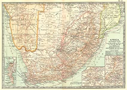 Botswana South Africa Map.Amazon Com South Africa Botswana Namibia Cape Town Johannesburg