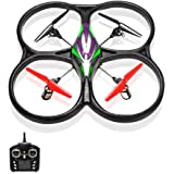 REALACC V262 2.4GHz 4CH 6-Axis Gyro Big UFO Quadcopter Drone Headless Mode Long Flight Time Remote Control RC Toy Drone Camera Version RTF(Camera not Included)