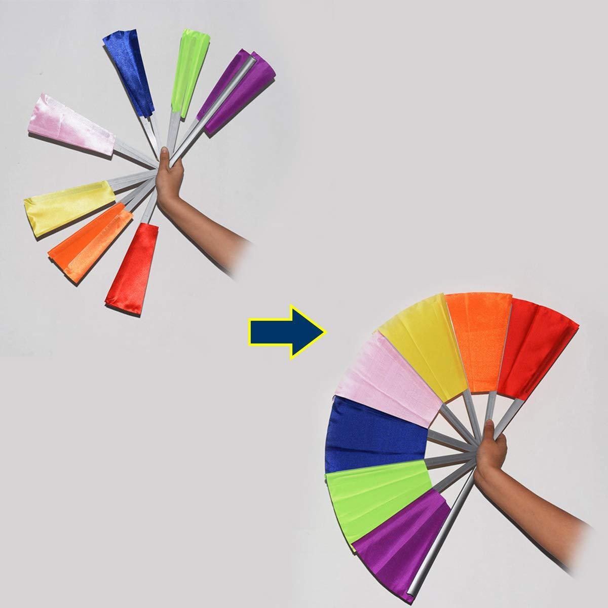 OUERMAMA Breakaway Fan Gimmick Magic Tricks Clown Comedic Folding Fan Props Multicolor Broken Fan Recovery & Restore Magic Prop Stage Magic Show Accessories for Kids and Adults