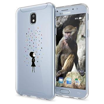 NALIA Funda Carcasa Compatible con Samsung Galaxy J3 2017 (EU), Motivo Design Movil Protectora Ultra-Fina Silicona Cubierta, Goma Gel Estuche Bumper ...