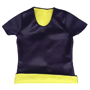 32f42958cd0d7 NF E Women Fashionable Neoprene Shapewear Calorie Off Fat Burner Shirt For  Gym Fitness Exercise Black M  Amazon.in  Clothing   Accessories