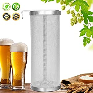 Hop Filter Spider Strainer Stainless steel Beer Mesh Strainer for Home brew Kegging equipment 300 Micron (Filter silver 1)