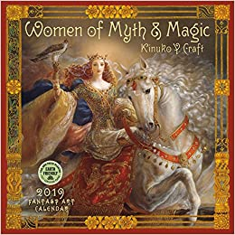 women of myth magic 2019 fantasy art wall calendar
