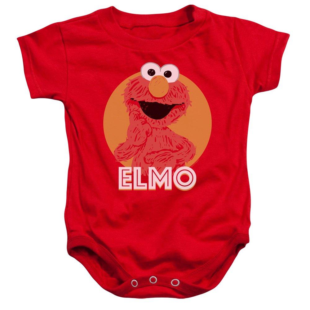 Sesame Street Classic TV Show Elmo Cartoon Scribble Infant Romper Snapsuit Trevco