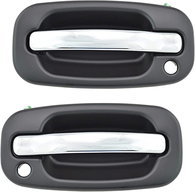 Chrome Outside Exterior Chrome Door Handle Front Driver Side LH for Chevy Pickup