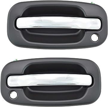 Amazon Com Chrome Black Exterior Door Handle Front Pair Set For Silverado Pickup Truck Automotive