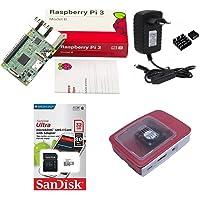 Kit Básico Raspberry Pi 3 Pi3-32gb Case Official C/Cooler
