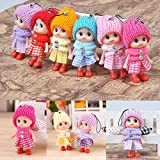 5Pcs Kids Toys Soft Interactive Baby Dolls Toy Mini Doll For Girls