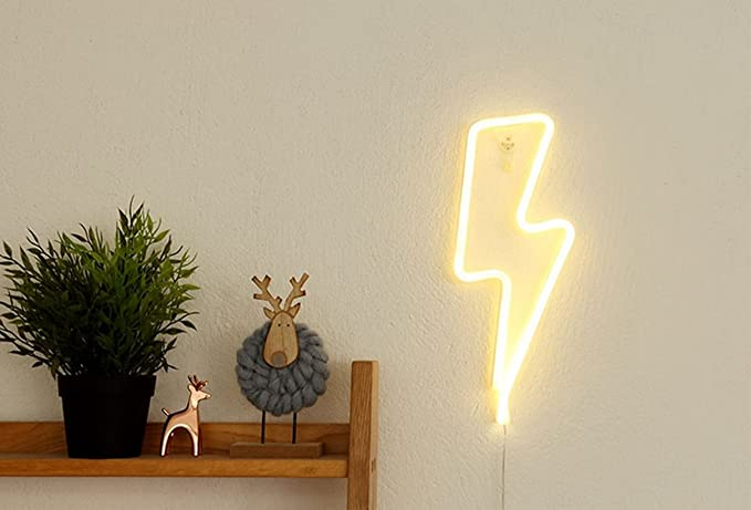 LUCKIEY Neon Lights, LED Neon Art Decorative Lights Wall Decor for ...