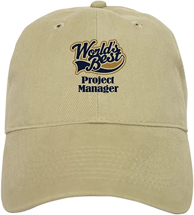 a3512182d1c84 Amazon.com  CafePress - Project Manager (Worlds Best) Cap - Baseball Cap  with Adjustable Closure