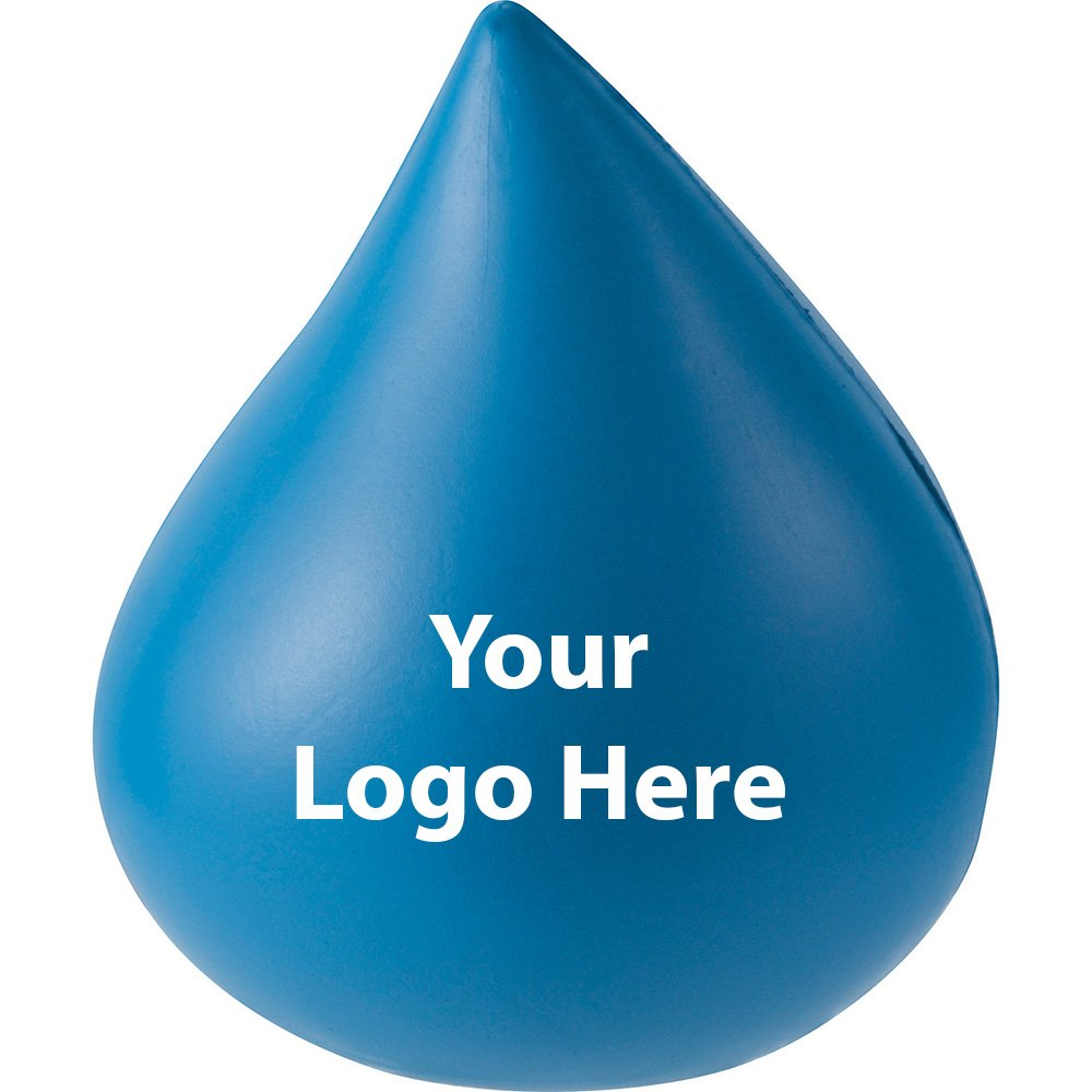 Water Drop Stress Reliever - 300 Quantity - $1.15 Each - PROMOTIONAL PRODUCT / BULK / BRANDED with YOUR LOGO / CUSTOMIZED
