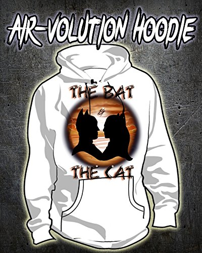 Personalized Airbrush Batman and Catwoman Silhouette Hoodie (Silhouette Mens Hoodie)