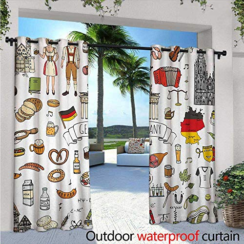 German Outdoor Privacy Curtain for Pergola W84
