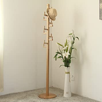 LXLA- Palace Lights Coat Rack Floor-standing Hanger Vertical Clothes Hanger Can be Assembled
