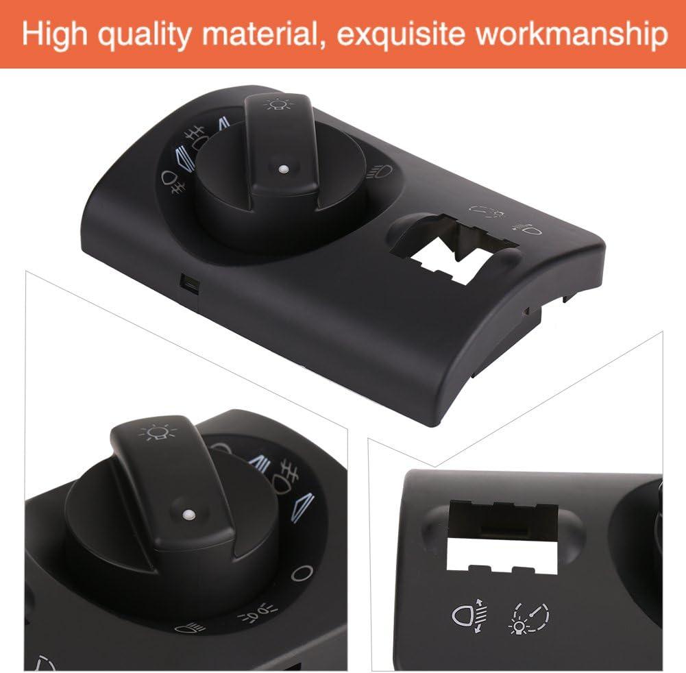 Black Headlight Switch Repair Kit Keenso Fog Light Lamp Control Switch Cover Repair Kit for Audi A6 4B C5 4B1941531F