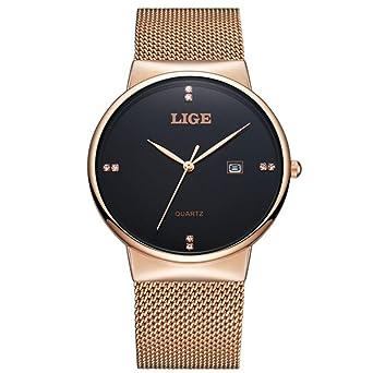 Amazon.com: LIGE relojes de cuarzo analógicos ...