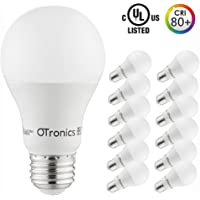 12-Pack Otronics 9W [60W Equivalent] Non-Dimmable A19 LED Light Bulb (5000K Daylight)