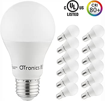 12-Pack Otronics 9W A19 LED Light Bulb (5000K Daylight)
