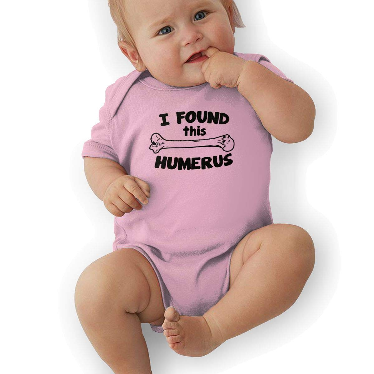 Mri-le2 Baby Boy Short Sleeve Bodysuits I Found This Humerus 1 Toddler Jumpsuit