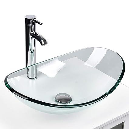 . Bathroom Vanity Sink Modern Style Bathroom Countertop Tempered Glass