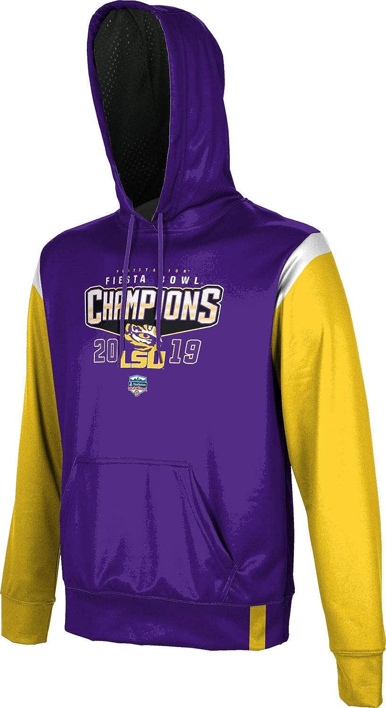 School Spirit Sweatshirt Louisiana State University Mens Pullover Hoodie Fiesta Bowl Champions 2019 Tailgate
