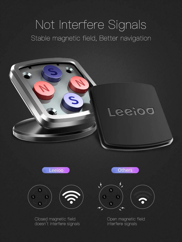 Ltd 4351514819 LEEIOO Magnetic Car Mount Universal Dashboard Car Phone Holder-Black Shenzhen Hean Technology Co