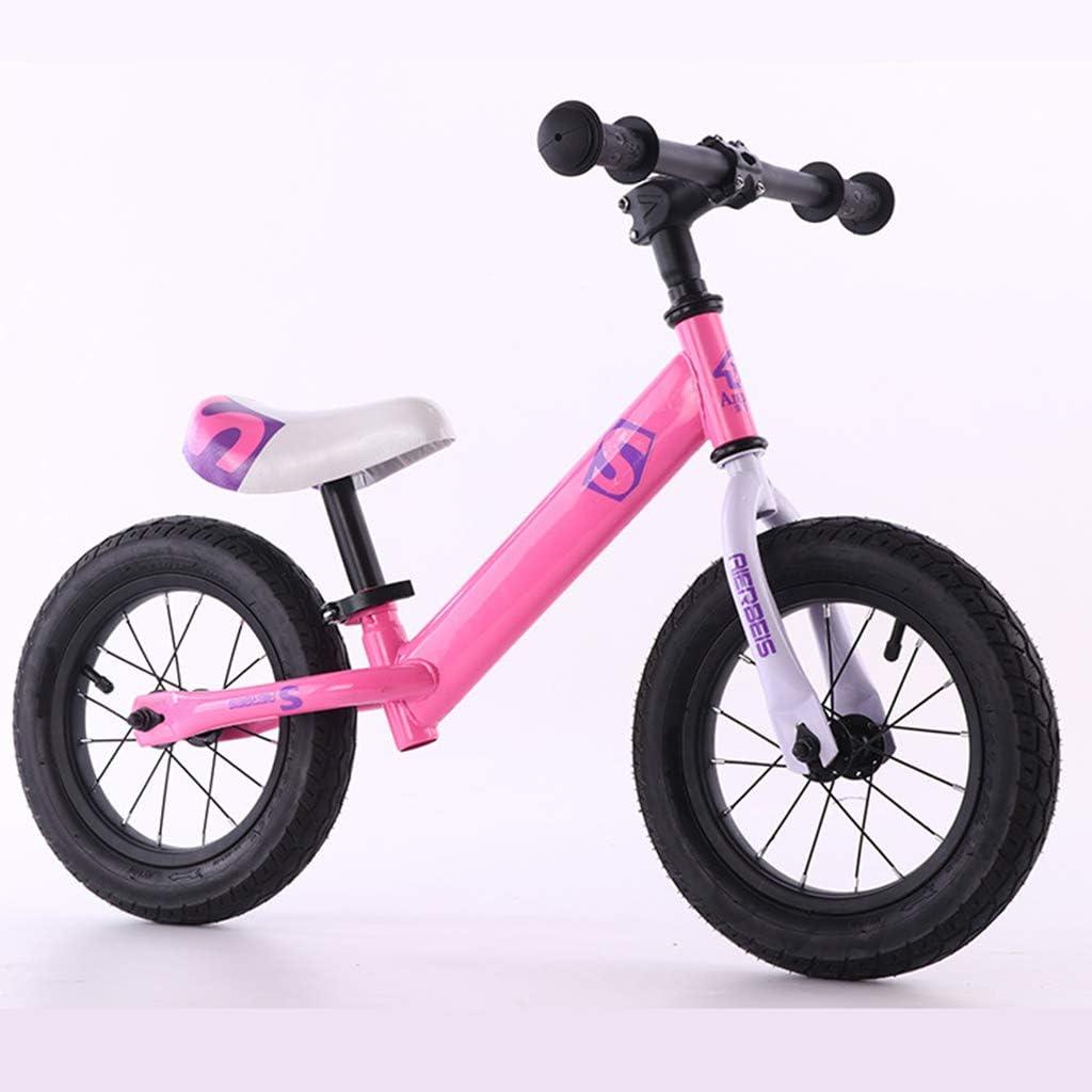 GASLIKE Bicicleta de Equilibrio Ajustable para niños, sin Pedal de Bicicleta de Entrenamiento para niños de 1,2,3,4,5,6 niños pequeños Ruta Bicicletas Bicicletas de Equilibrio,Rosado