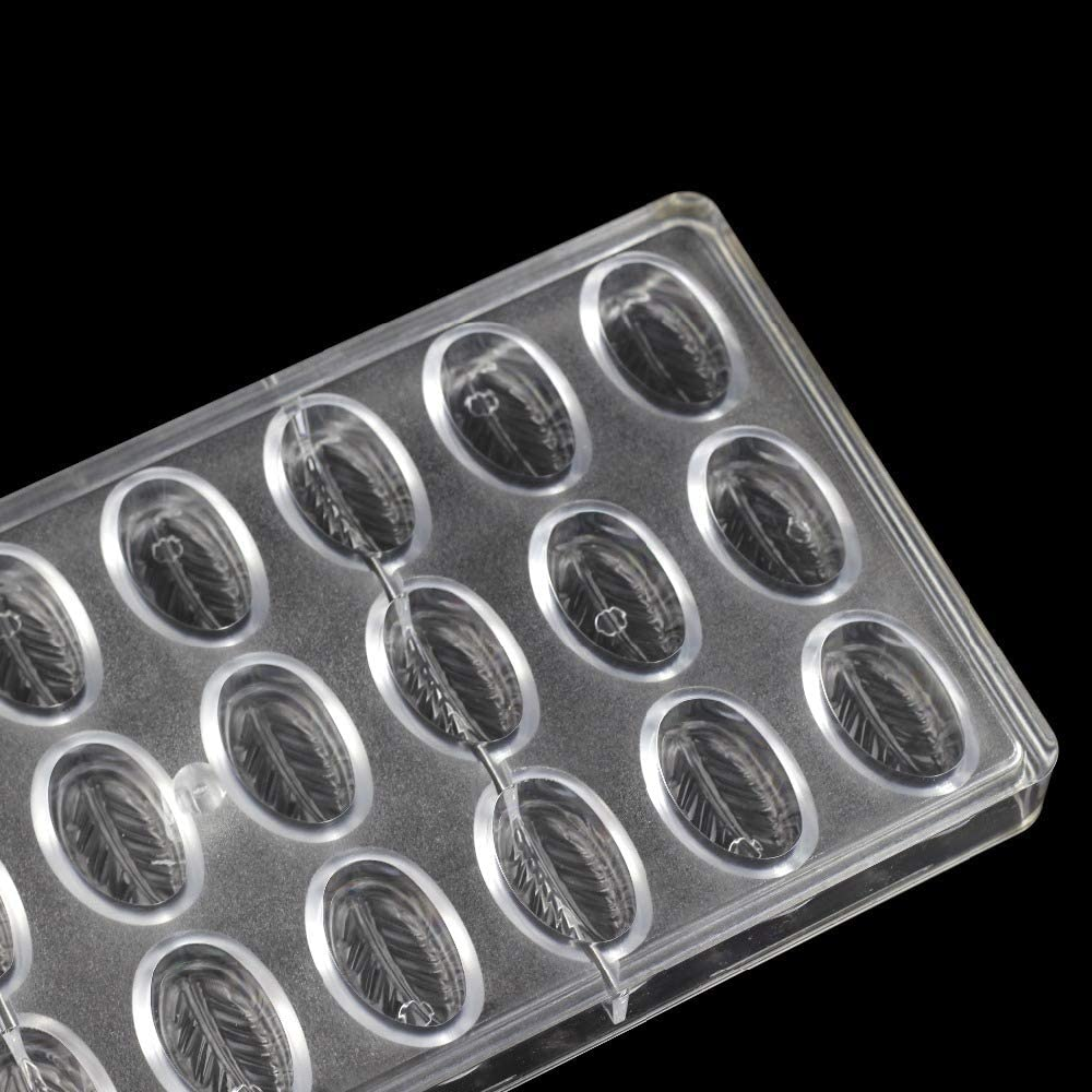 moldes de policarbonato Moldes de 24 agujeros para reposter/ía con forma de luna de chocolate plato de pl/ástico transparente rectangular para hornear bandeja de horno bandeja para hornear