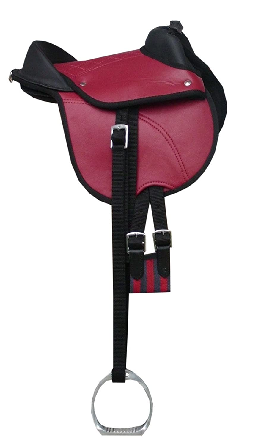 'Pony sella Shetty sella Pony Equitazione cuscino reitki ssen con accessori per il set completo rosso 10 | Pony reitpad anche per legno cavallo geeignetes Sattel Set | Cub Saddle Set Reitsport Amesbichler