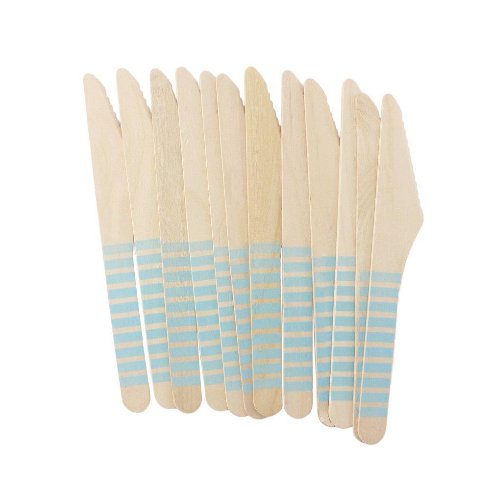 【高知インター店】 youmewellブルーストライプ木製使い捨てカトラリー木製ナイフフォークスプーン108 Count B01N7DBCYD knives Count ブルー knives knives B01N7DBCYD, アルファゴー:2763d96d --- a0267596.xsph.ru