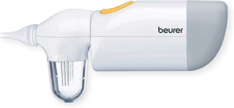 Beurer NA20 601.38 - Aspirador nasal, silencioso, elimina la secreción nasal líquida y rígida, para bebés y niños pequeños durante el tiempo de resfriado, color blanco