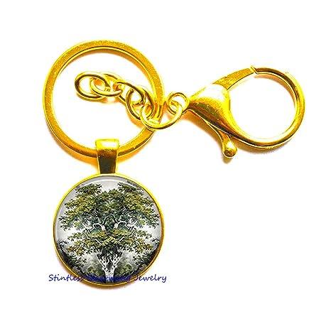 Amazon.com: Llavero de árbol del mundo, joyería norte ...
