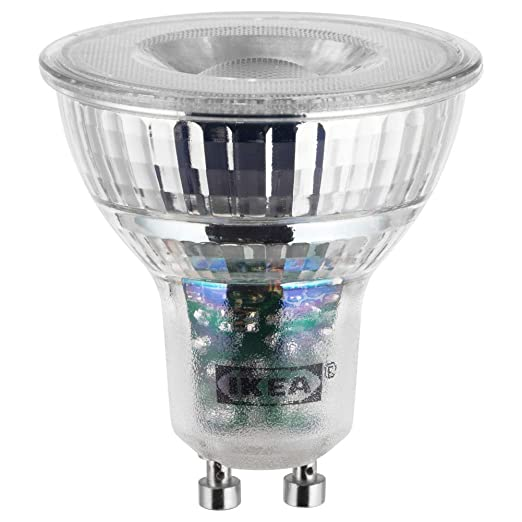 LEDARE Bombilla LED GU10 400 Lumen, regulable en intensidad cálida
