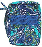 DIWI Large Sizes 10 X 7 X 2.75 Inches Bible Cover Good Book Cover Quiltd Cotton Quilted Fabric (L, 1602F Blue Morning Glory)