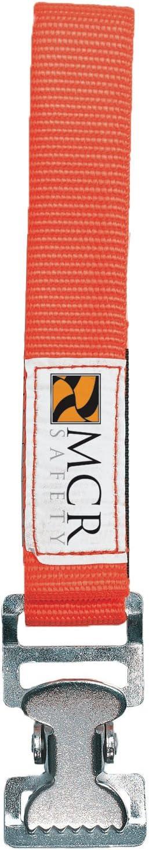 MCR Safety GCO Nickel Gloves Utility Clip with Nylon Strap, Orange, Large - Work Gloves -