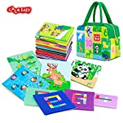 LALABABY My First Soft Numbers and Animal Cards, 26pcs Nontoxic Fabric Baby Cloth Books Early Education Toys Activity Cloth Card for Toddler, Infants and Baby Toy Perfect for Baby Shower gift
