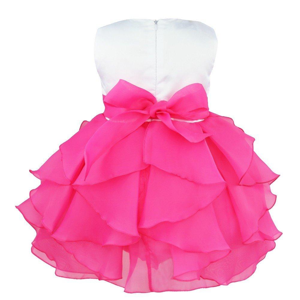 Freebily Vestido de Princesa Bautizo Organza para B/ébes Ni/ñas Vestido de Fiesta 3 Meses a 3 A/ños