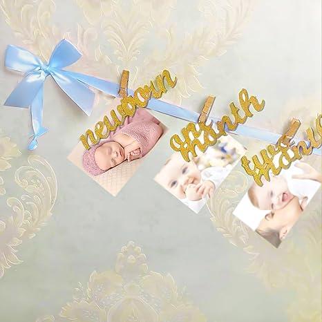Amazon.com: Registro crecimiento bebé recién nacido a 12 ...