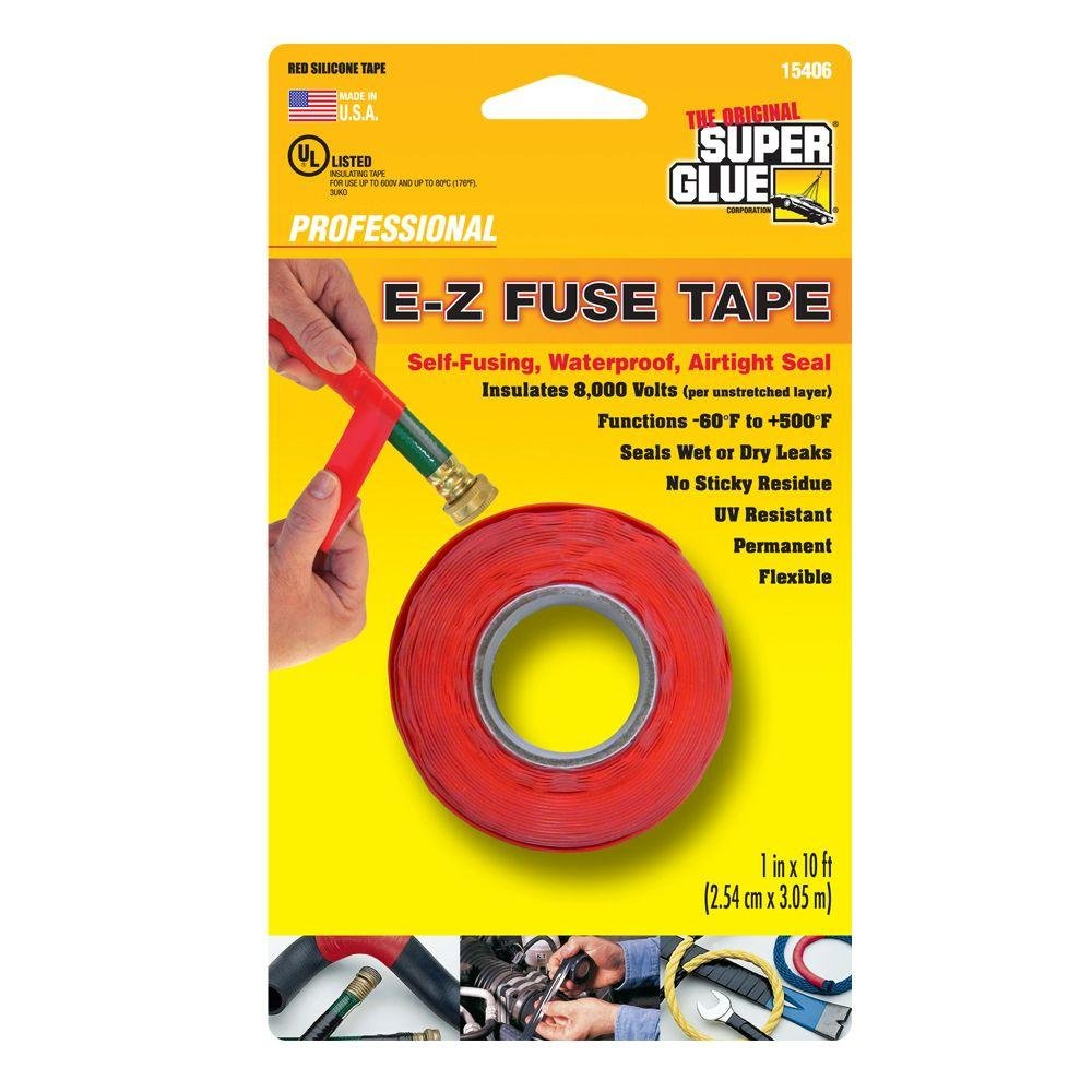 1 in. x 10 ft. Red E-Z Fuse Silicone Tape (12-Pack)