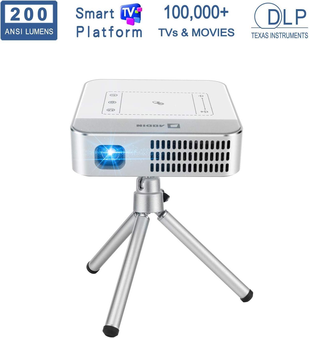 AODIN Wow Proyector de películas portátil WiFi HD 4K, 3500 lúmenes ...