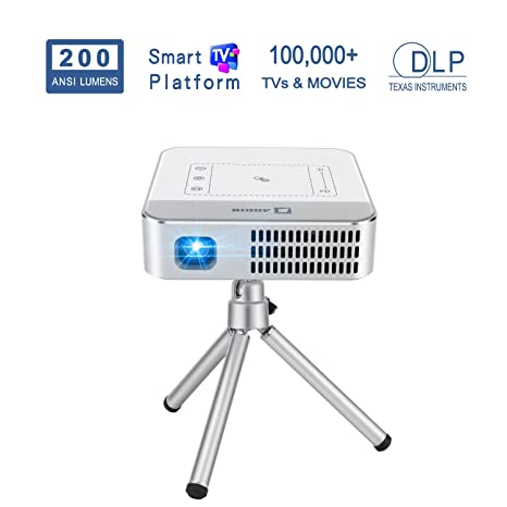 Amazon.com: AODIN Wow - Proyector de vídeo portátil WiFi HD ...