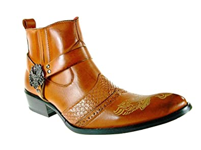 29fc17315 Alfa Men s M1768 Ankle High Western Boot