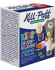 KILL PAFF KIDS |Insecticida Eléctrico |Antimosquitos |Eficaz Contra Mosquito Tigre y Transmisores de Enfermedades Tropicales |Con Luz |Sin Olor|45 Noches de Protección |Contenido: 1 Dif + 1 Rec