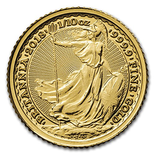 2018 UK Great Britain 1/10 oz Gold Britannia BU Gold Brilliant (Gold Guilloche)