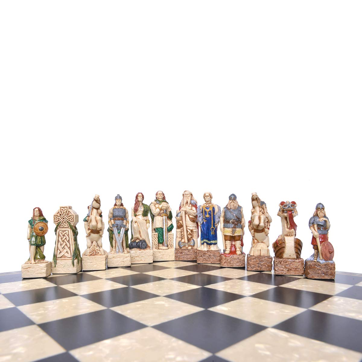 Studio Anne Carlton Celtic and Viking Themed Themed Themed Chess Set