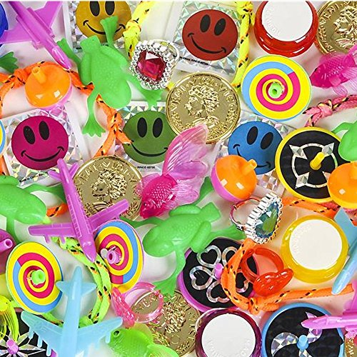 - 50 Pc. Prize Box Treasure Assortment - Party Bag Fillers Fun Pinata Toy Supplies for Kids - Great for Students, Elementary Schools, Party Favors, Grab Bag Stuffer,, Novelty Toys