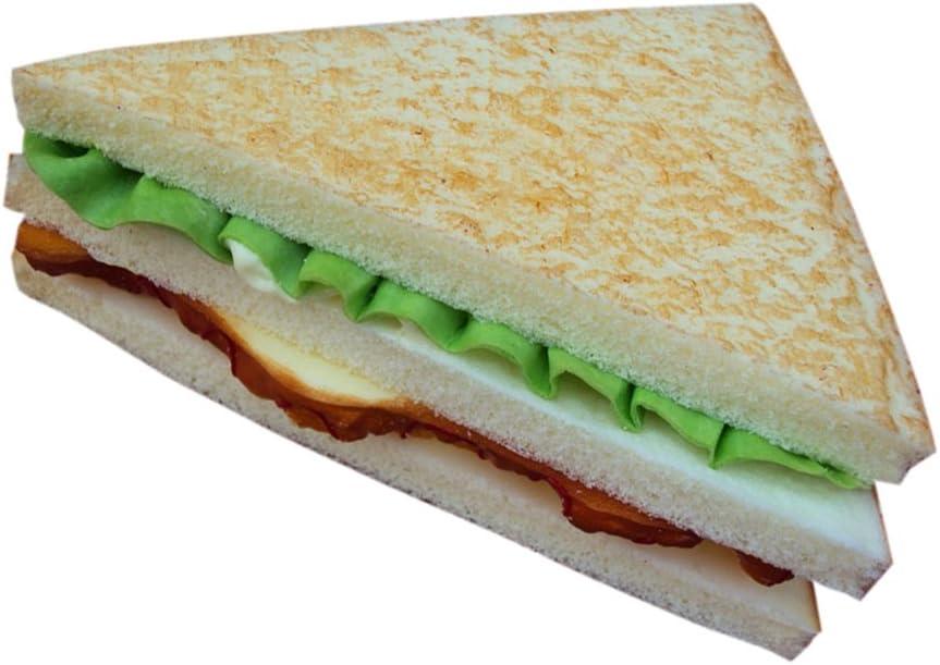 Juguetes de Imitación Decoración de Cocina Sandwich Vegetal Artificial Alimentos Realista